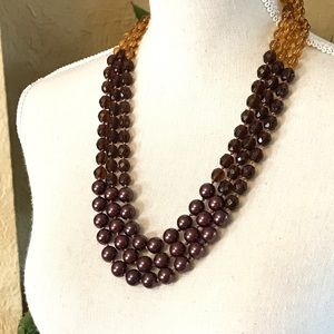 Coldwater Creek Glass Beaded Necklace